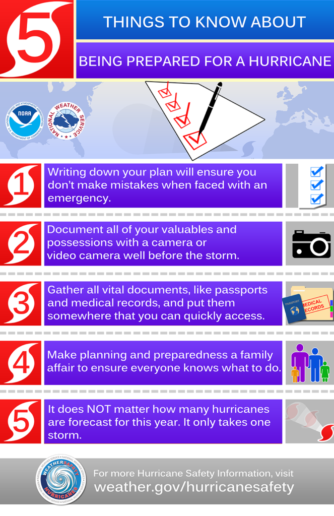 Hurricane Preparedness Infographic