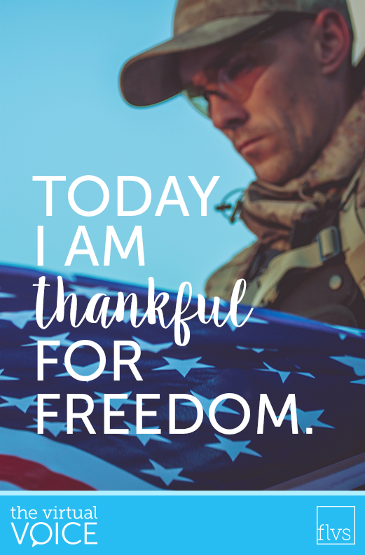 Today I am thankful for Freedom
