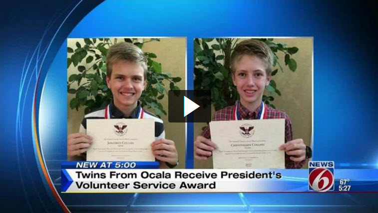 Click Orlando - Twins Recognized for Volunteer Service