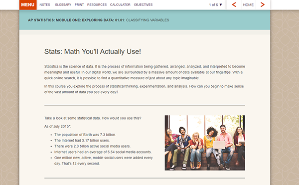 FLVS Math Screen 1