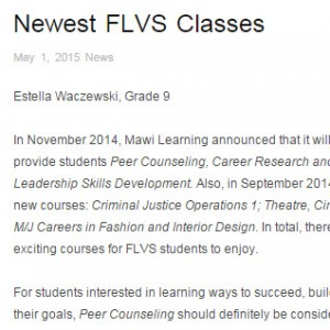 New FLVS Classes